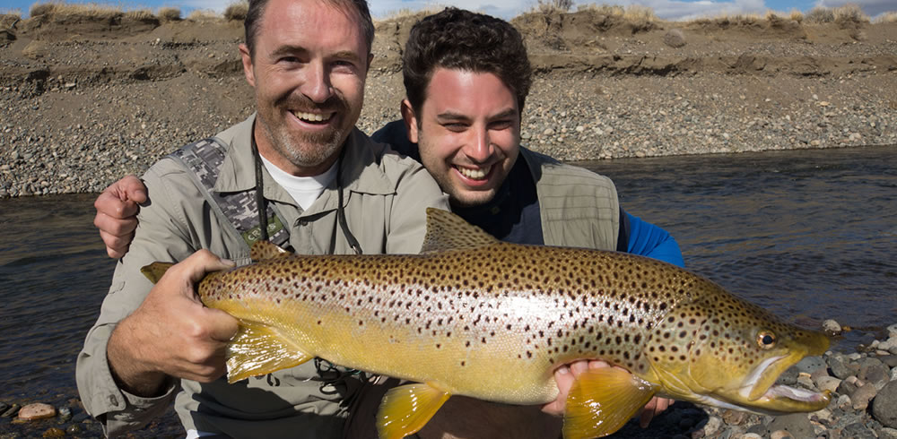 A beautiful brown trout from the Collon Cura River