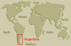 atlas map showing Argentina
