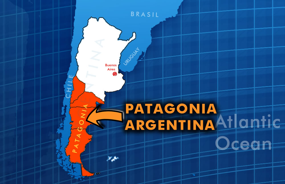 patagonia region in orange